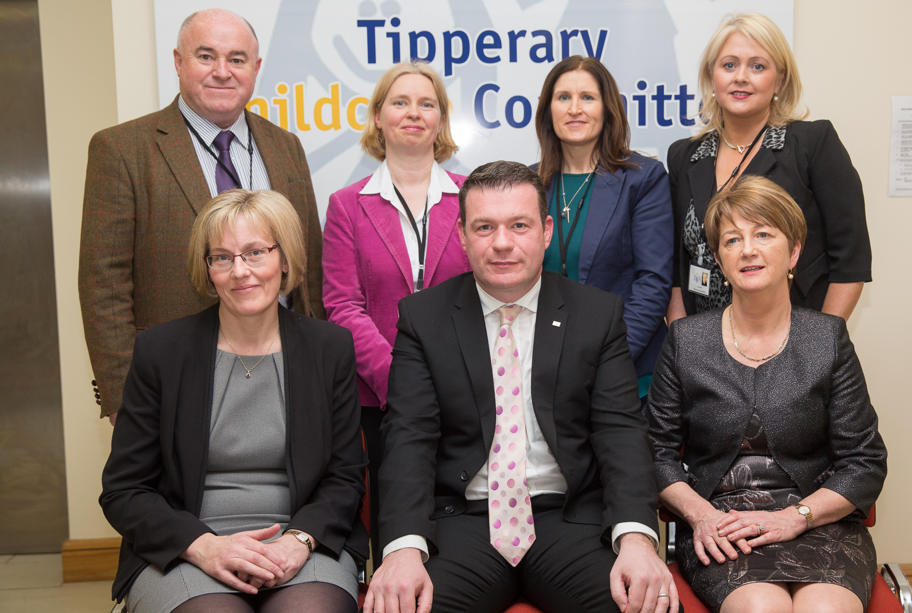 Tipperary Childcare Committeee Staff with Minister and Chairperson